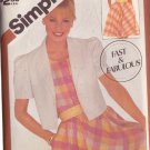 SIMPLICITY VINTAGE PATTERN 5881 SZS 14/16/18 MISSES' PULLOVER DRESS, JACKET