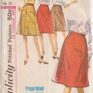 SIMPLICITY VINTAGE PATTERN 5624 MISSES' SKIRT IN PROPORTIONED SIZE WAIST 24