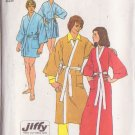 SIMPLICITY VINTAGE PATTERN 5685 SIZE SMALL 34/36 UNISEX KIMONO ROBE IN 2 LENGTHS