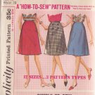 SIMPLICITY VINTAGE PATTERN 5583 MISSES' SKIRT IN 2 VARIATIONS SIZE 18