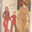 SIMPLICITY VINTAGE PATTERN 5851 MISSES' SHIRT-JACKET AND PANTS IN 2 VARIATIONS SIZE 18