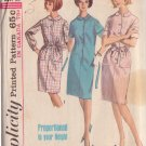 SIMPLICITY VINTAGE PATTERN 5878 SIZE 18 MISSES' DRESS IN PROPORTIONED SIZES