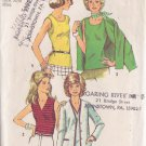 SIMPLICITY 5584 PATTERN SIZE 8 UNCUT MISSES' CARDIGAN AND TOP IN 4 VARIATIONS