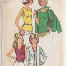 SIMPLICITY 5584 PATTERN MISSES' CARDIGAN AND TOP IN 4 VARIATRIONS SIZE 14