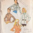 SIMPLICITY 5802 VINTAGE PATTERN SIZE 14 MISSES' SHIRT AND ASCOT TIE