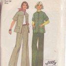 SIMPLICITY 6529 PATTERN DATED 1974 MISSES' JACKET & PANTS SZ 12