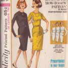 SIMPLICITY 5653 VINTAGE PATTERN MISSES' PROPORTIONED DRESS 2 VARIATIONS SIZE 14