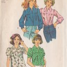 SIMPLICITY VINTAGE PATTERN 5583 MISSES' SMOCK BLOUSE IN 4 VARIATIONS SIZE 12