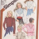SIMPLICITY PATTERN 5627 GIRL'S SET OF BLOUSES 5 VARIATIONS SIZE 7