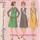 SIMPLICITY VINTAGE PATTERN 5649 SZ 12T TEEN JUMPER IN 3 VARIATIONS