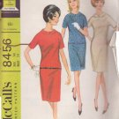 McCALL'S VINTAGE PATTERN 8456 MISSES' DRESS IN 3 VARIATIONS SIZE 14