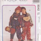 McCALL'S PATTERN 9042 CHILD'S JACKET, OVERALLS, TOP, HAT, BLANKET ROLL SZS 4/5/6