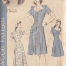 HOLLYWOOD PATTERN 1042 MISSES' DRESS IN 3 VARIATIONS SIZE 16 JANE WYATT