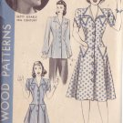 HOLLYWOOD PATTERN 890 1940'S 1 PIECE DRESS 2 VARIATIONS SZ 14 RUTH WARRICK