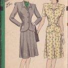 HOLLYWOOD PATTERN 1602 MISSES' 1940'S 2 PIECE SUIT DRESS SIZE 20