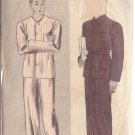 HOLLYWOOD PATTERN 1066 MEN'S PAJAMAS IN 2 VARIATIONS SIZE 40