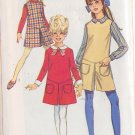 SIMPLICITY PATTERN 7793 SIZE CHUBBIE 12 1/2 GIRLS' DRESS, JUMPER, PANTJUMPER, COLLAR, CUFFS
