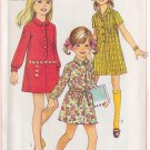 SIMPLICITY PATTERN 7786 GIRLS' SHIRT DRESS IN 2 VARIATIONS SIZE 12
