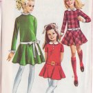 SIMPLICITY PATTERN 7781 SIZE 8 GIRLS' DRESS WITH DETACHABLE COLLAR, CUFFS