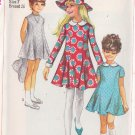 SIMPLICITY PATTERN 7666 GIRLS' DRESS IN 3 VARIATIONS, COLLAR, CUFFS, HAT SIZE 7