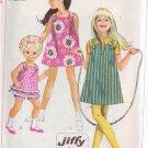SIMPLICITY VINTAGE PATTERN 7709 GIRLS' DRESS, JUMPER, TOP, SHORTS SIZE 6