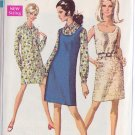 SIMPLICITY VINTAGE PATTERN 7763 MISSES' DRESS, JUMPER, SHIRT DRESS SIZE 10