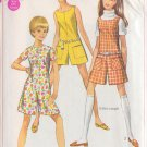 SIMPLICITY PATTERN 7705 YNG JR/TEEN PANTDRESS OR PANTJUMPER SIZE 9/10 UNCUT