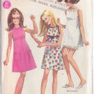 SIMPLICITY PATTERN 7662 YNG JR/TEEN DRESS IN 2 LENGTHS, 3 VERSIONS SIZE 13/14