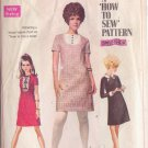 SIMPLICITY PATTERN 7736 YNG JR/TEEN DRESS, DETACHABLE COLLAR & CUFFS 3 VARIATIONS SIZE 13/14