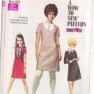 SIMPLICITY PATTERN 7736 MISSES' DRESS, COLLAR, CUFFS 3 VARIATIONS SIZE 10