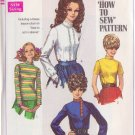 SIMPLICITY VINTAGE PATTERN SIZE 9/10 7734 YOUNG JR/TEEN BLOUSES IN 4 VARIATIONS