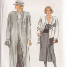 VOGUE PATTERN 9201 MISSES' COAT, JACKET, SKIRT, PANTS SIZES 6/8/10 UNCUT
