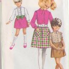 SIMPLICITY PATTERN 7837 GIRLS' SHIRT-BLOUSE AND SKIRT IN VARIATIONS SIZE 10