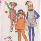 SIMPLICITY VINTAGE PATTERN 7833 GIRL'S JUMPER, TOP, PANTS SZ 3