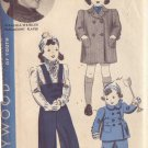 HOLLYWOOD PATTERN 1680 GIRL'S COAT AND SNOW PANTS SIZE 1 YEAR VIRGINIA WEIDLER