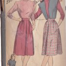 HOLLYWOOD PATTERN 1684, 1940'S BLOUSE, SKIRT, BOLERO 3 VARIATIONS SIZE 14