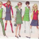 SIMPLICITY VINTAGE PATTERN 7828 YNG JR/TEEN JUMPER, TOP, SKIRT, PANTS SIZE 13/14