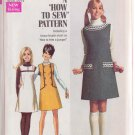 SIMPLICITY PATTERN 7825 SIZE 13/14 YNG JR/TEEN JUMPER IN 3 VARIATIONS UNCUT