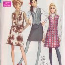 SIMPLICITY PATTERN 7808 MISSES' BLOUSE, SKIRT AND VEST SIZE 14 UNCUT