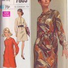 SIMPLICITY 7803 VINTAGE PATTERN MISSES' DESIGNER DRESS IN 2 VARIATIONS SIZE 10