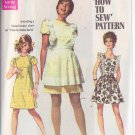 SIMPLICITY PATTERN 8010 YNG JR/TEEN DRESS, MINI PINAFORE SIZE 7/8 UNCUT