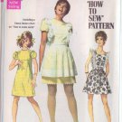 SIMPLICITY PATTERN 8010 MISSES' DRESS, MINI PINAFORE SIZE 8 UNCUT