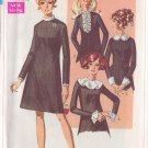 SIMPLICITY VINTAGE PATTERN 7843 MISSES' DRESS WITH DETACHABLE TRIMS SIZE 8 UNCUT