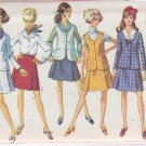 SIMPLICITY PATTERN 8041 MISSES' JACKET, SLEEVELESS JACKET, SKIRT, BLOUSE SIZE 10
