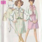 SIMPLICITY PATTERN 8040 MISSES' DRESS, JACKET, SLEEVELESS JACKET SIZE 14 UNCUT