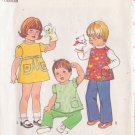SIMPLICITY 7854 VINTAGE PATTERN TODDLER'S DRESS, TOP AND PANTS SIZE 2
