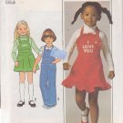 SIMPLICITY 7857 VINTAGE PATTERN CHILD'S JUMPER AND OVERALLS SIZE 5 UNCUT