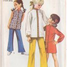 SIMPLICITY 8022 PATTERN CHILD'S MINI DRESS, TOP, BELL BOTTOM PANTS SIZE 10