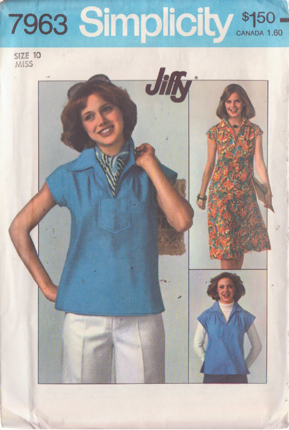 SIMPLICITY PATTERN 7963 MISSES' PULLOVER TOP AND SKIRT SIZE 10 UNCUT