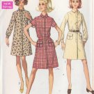 SIMPLICITY PATTERN 7856 MISSES' SHIRT WAIST DRESS IN 3 VARIATIONS SIZE 10 UNCUT